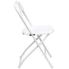 White Folding Chair $1.25 each