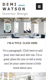 Real Estate website templates – Interior Design Portfolio
