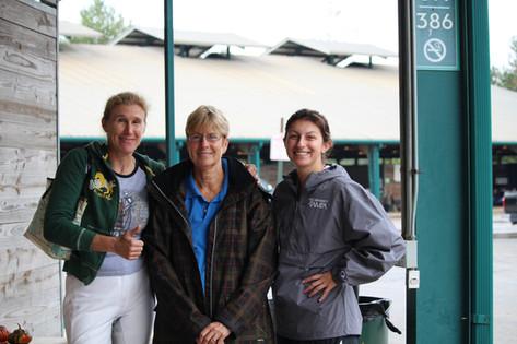 Joy, Becky, and Rachel