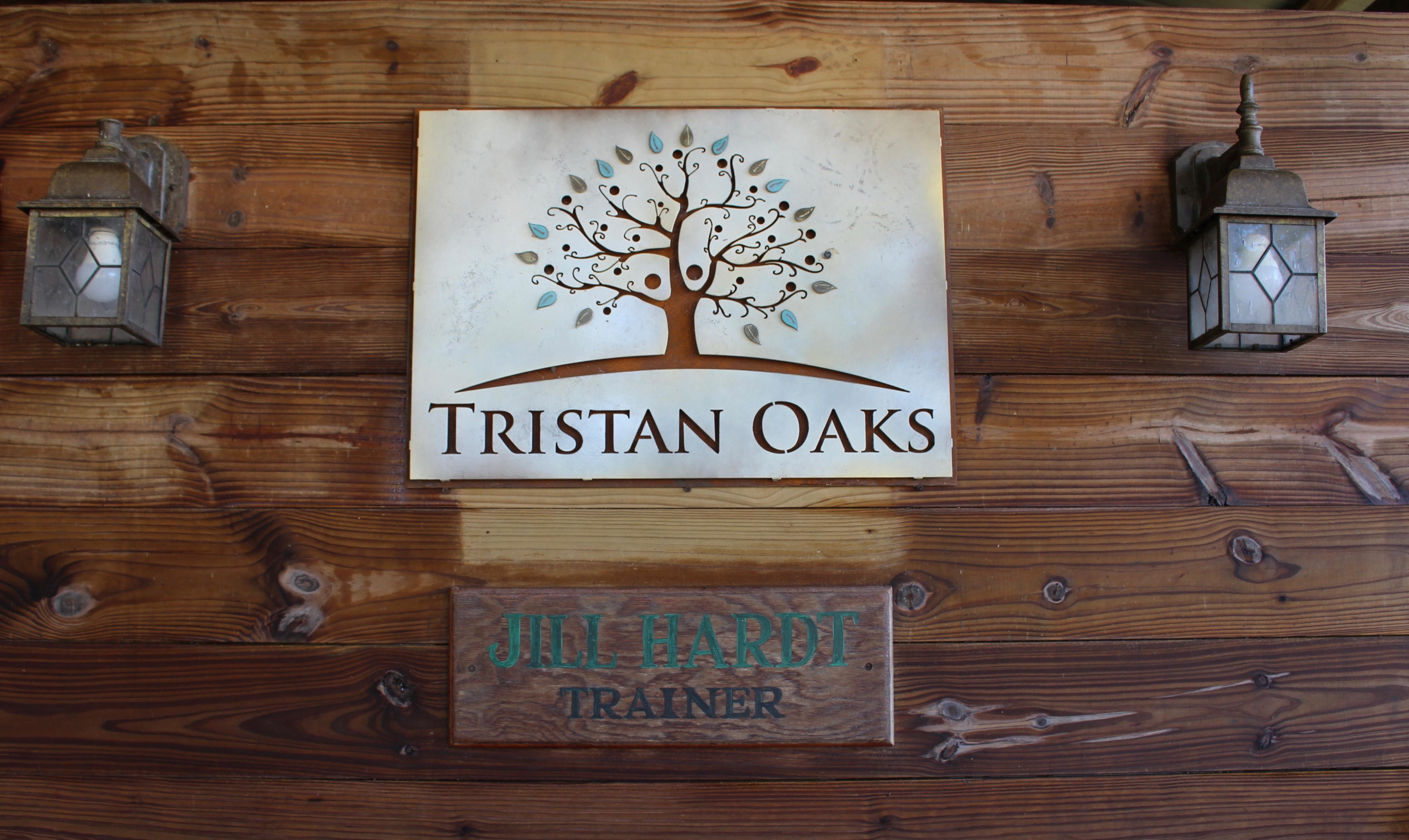 Tristan Oaks Sign