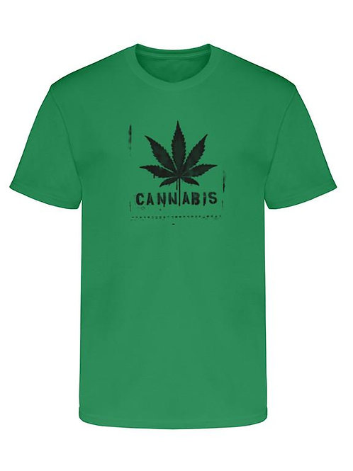 "Men's Soft Ringspun Cotton ""Cannabis"" Tee"