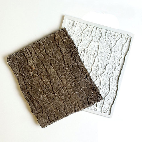 Tree Bark Fondant Silicone Mold For Modeling and Shaping Clay, Polymer Clay