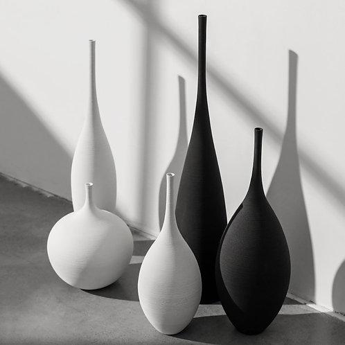Jingdezhen Modern Minimalist Handmade Art Zen Vase Ceramic Model Home Decoration