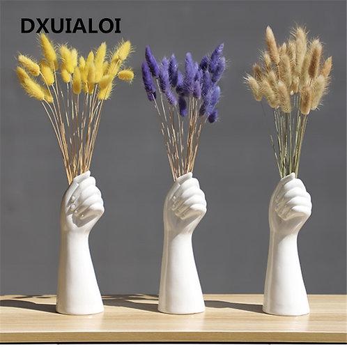 Hand Vase,  Modern Home Office Decor, Ceramic