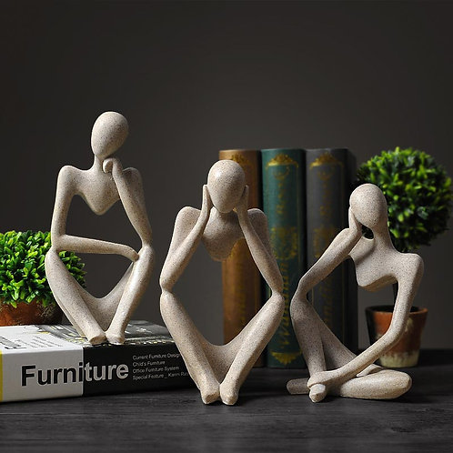 Abstract Thinker Statue  European Style Office Home Decoration Accessories