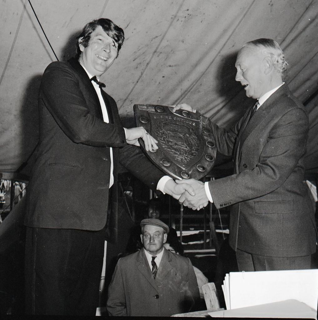 Receiving a Trophy - 1971