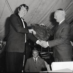 Receiving a Trophy - 1971