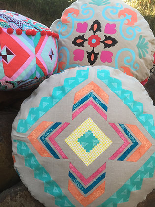 my applique pouf