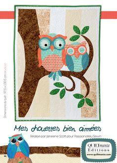 quiltmania owl love