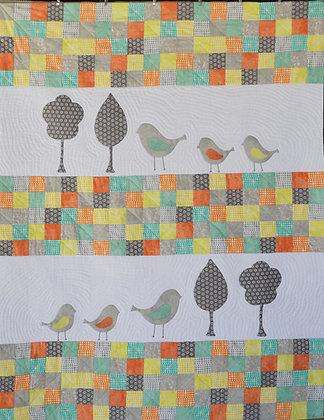 my little birds baby quilt - PDF pattern