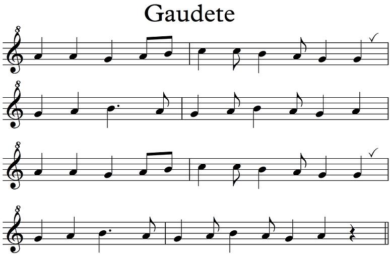 Gaudete recorders 2020 - Descant no lett