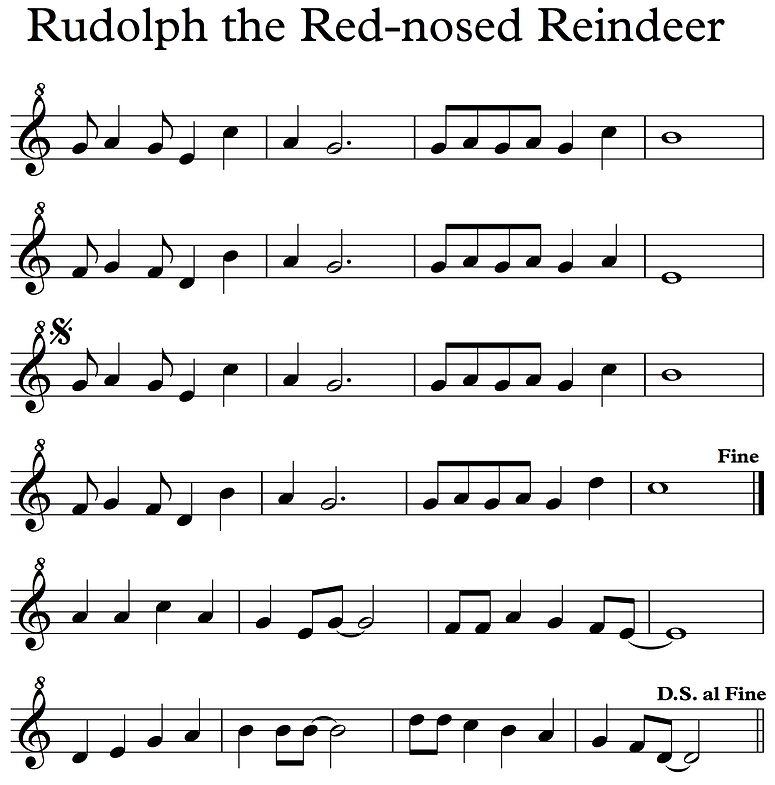 Rudolph - Descant Recorder notes.png