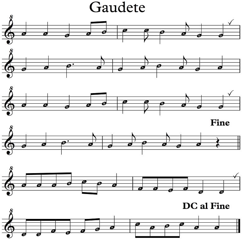 Gaudete recorders 2020 - book 2 Descant