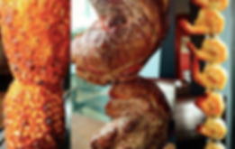 Grilled Pineapple, Rumpsteak, Garlic Shrimp