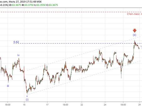 Прогноз по доллар/рубль и USOIL (27.07.19)