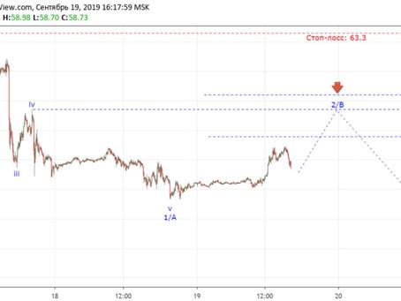 Прогноз по USOIL + сделка (19.09.19)