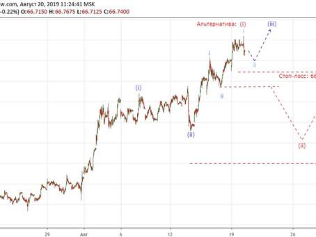 Прогноз по доллар/рубль (20.08.19)