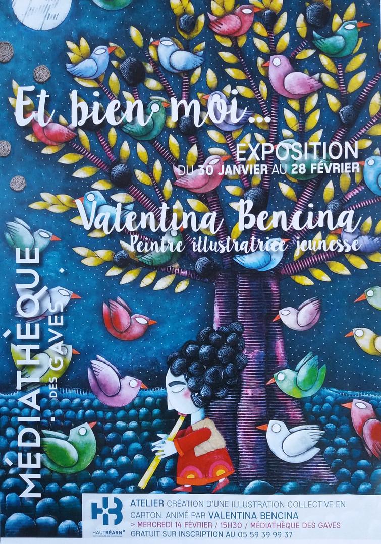 affiche expo mediatheque Oloron Ste Marie, 2017web