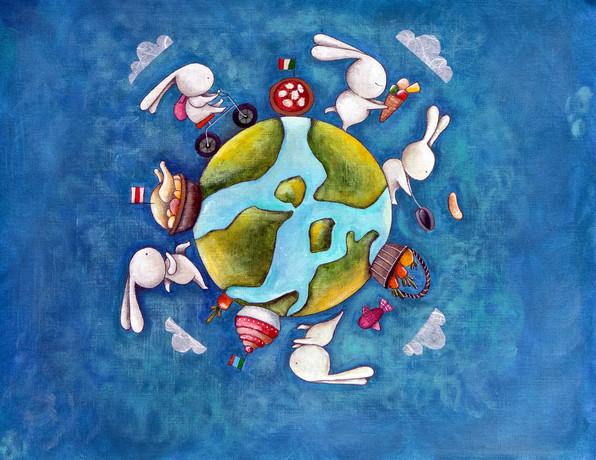 Pendant les repas, nous faisions le tour du Monde!
