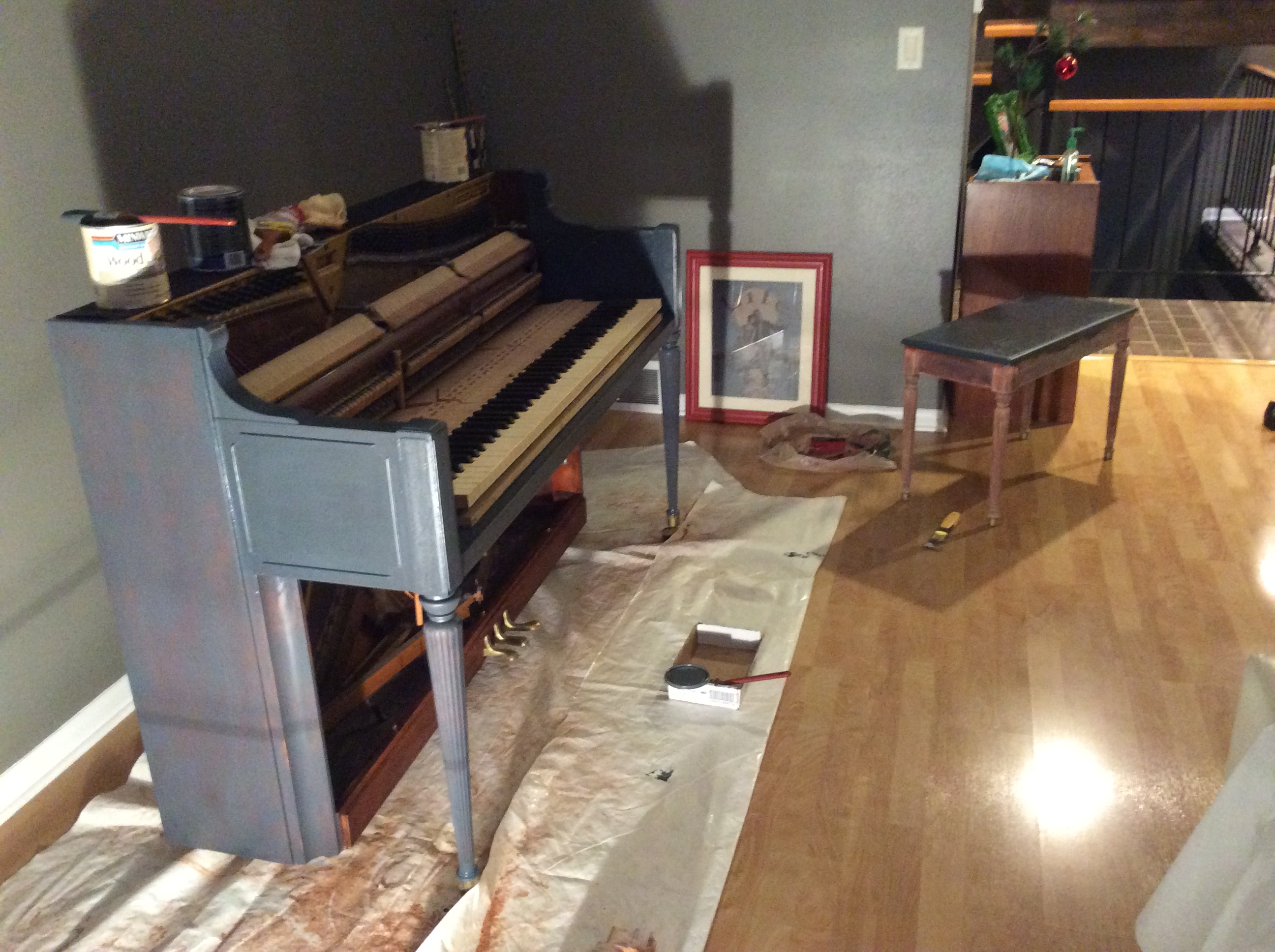 Acid wash/ Stain Piano