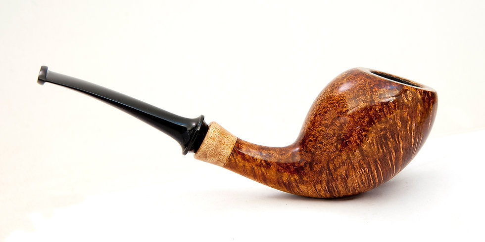 Smooth Bent Egg w/ Maple Burl