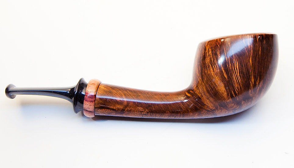 Smooth Danish Scoop with Tulipwood shank ring