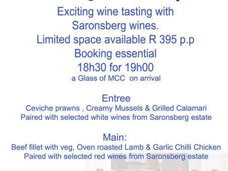 Saronsberg wine tasting