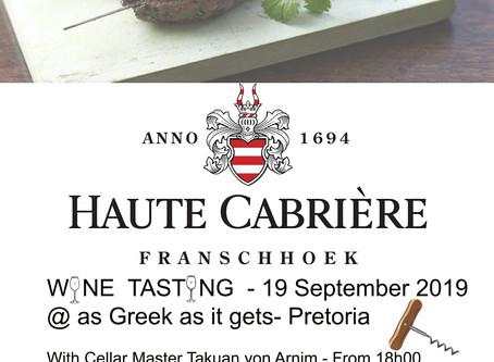 19 September Wine tasting