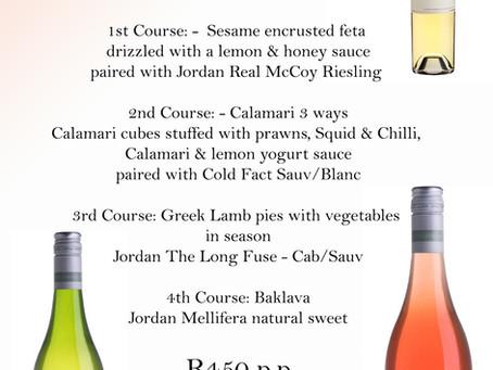 Greek food & Great wine