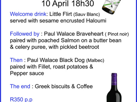 Wine evening with Paul Wallace