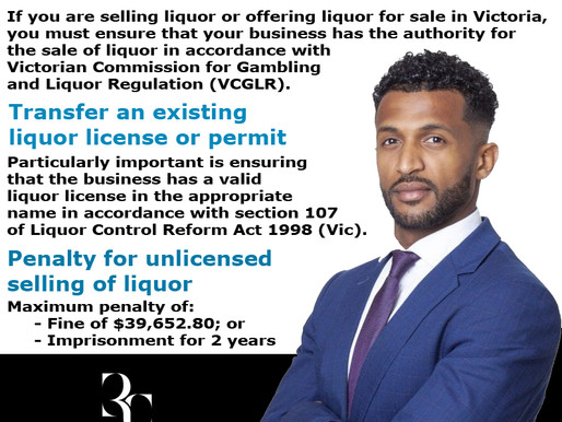 Has your liquor license been transferred to your name?