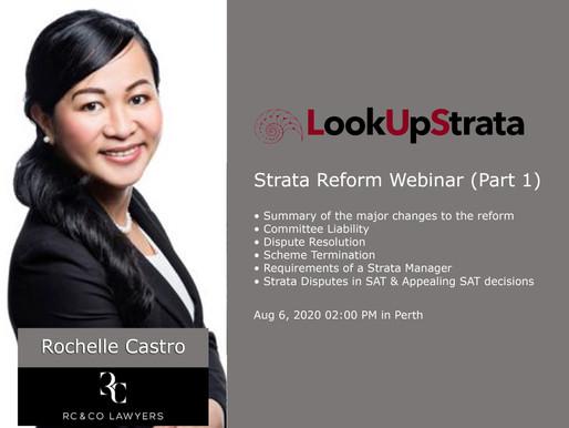 Rochelle Castro joins Strata Reform Webinar