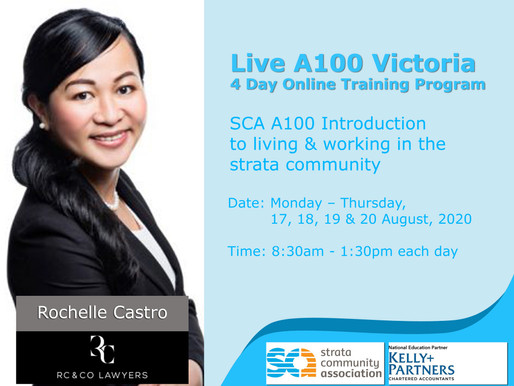 SCA A100 Introduction to living & working in the strata community