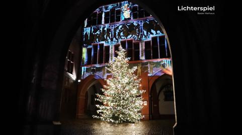 Lichterspiel Rathaus Basel