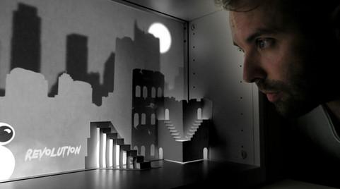 Testing a miniature light-theater