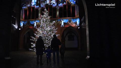 Lichterspiel Basler Rathaus