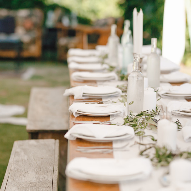 a bohemian setting with a slight notion towards formality for a beach wedding ceremony and garden reception.    photography. courtney horwood creative director. jessica barr
