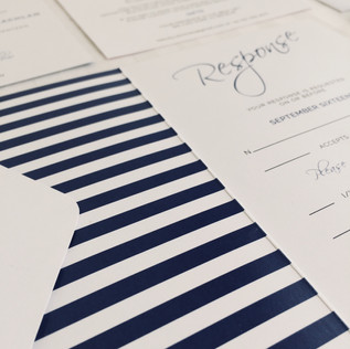 invitation stationery for a traditional wedding portraying a formal aesthetic with playful undertones.    printing. the big picture graphic designer. jessica barr