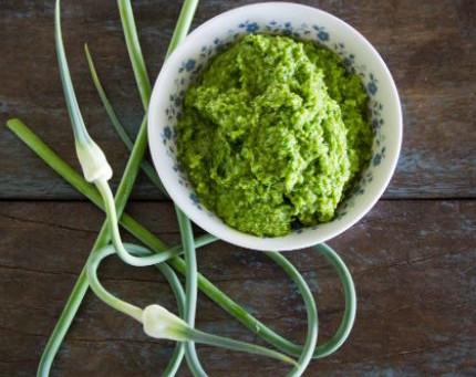 Sublime Garlic Scape Pesto