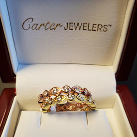 SS Stackable CZ Ring Set