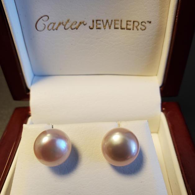SS 10mm Blush Pearl Earrings