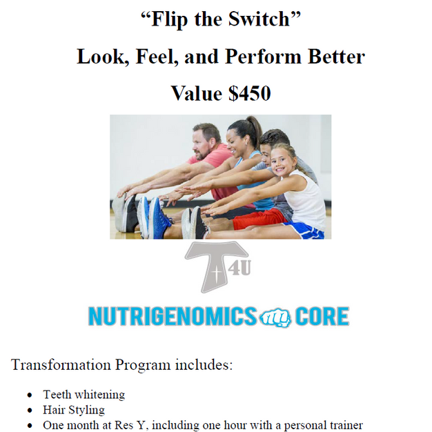 Flip the Switch Health Package