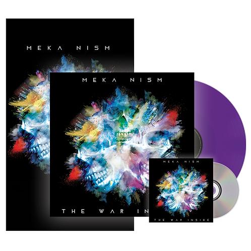 """Meka Nism """"The War Inside"""" Signed Poster, Vinyl & CD Bundle"""