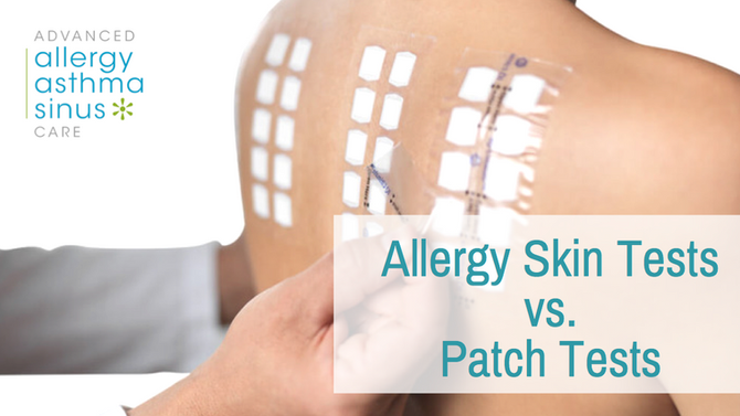 Allergy Skin Tests Versus Patch Tests