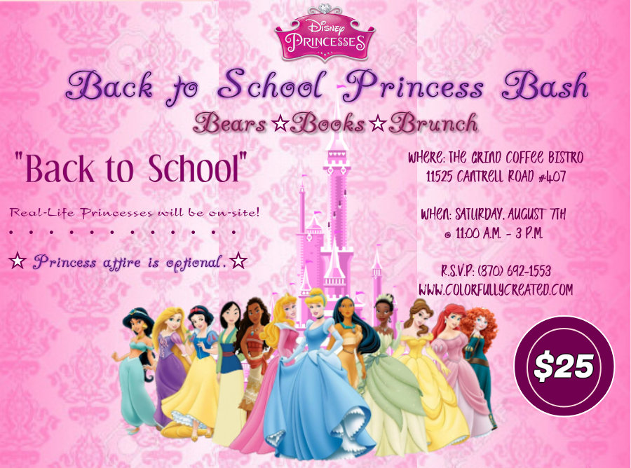 Back to School-Princess Bash