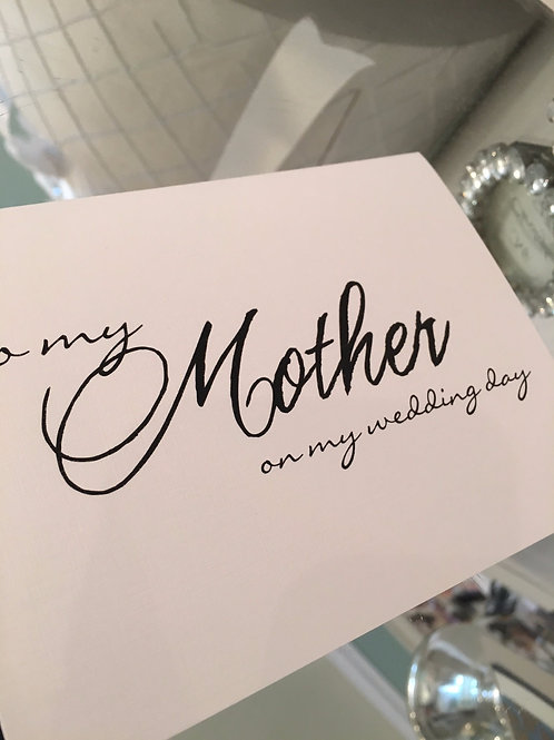 Thank you for Mother