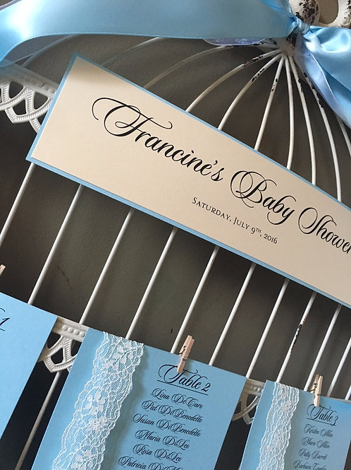 Birdcage Seating Card Holder Rental (Personalized