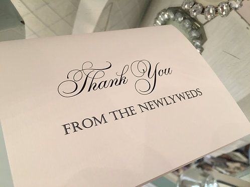 Thank You from The Newlyweds
