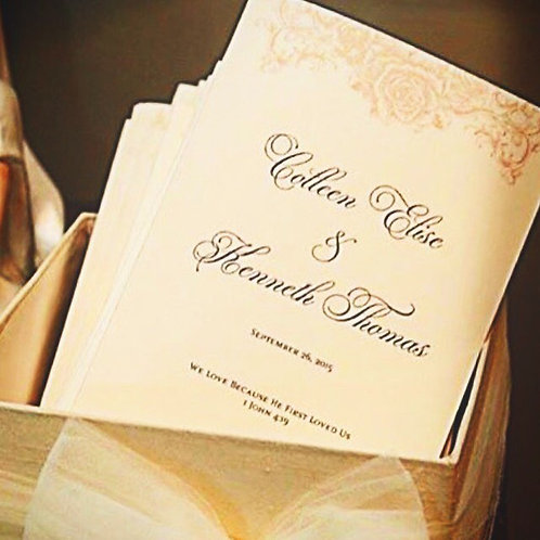 Metallic Ceremony Programs (Set of 25)