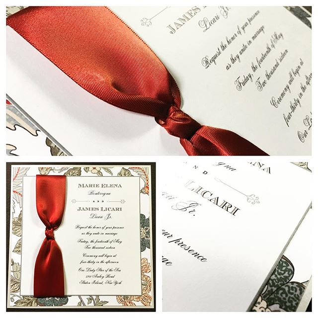 In love with Saturday Style #custominvitations #luxuryinvitations #handmadeinvitations #weddinginvit